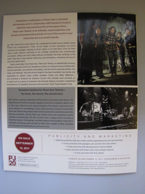 Pearl Jam Twenty Book