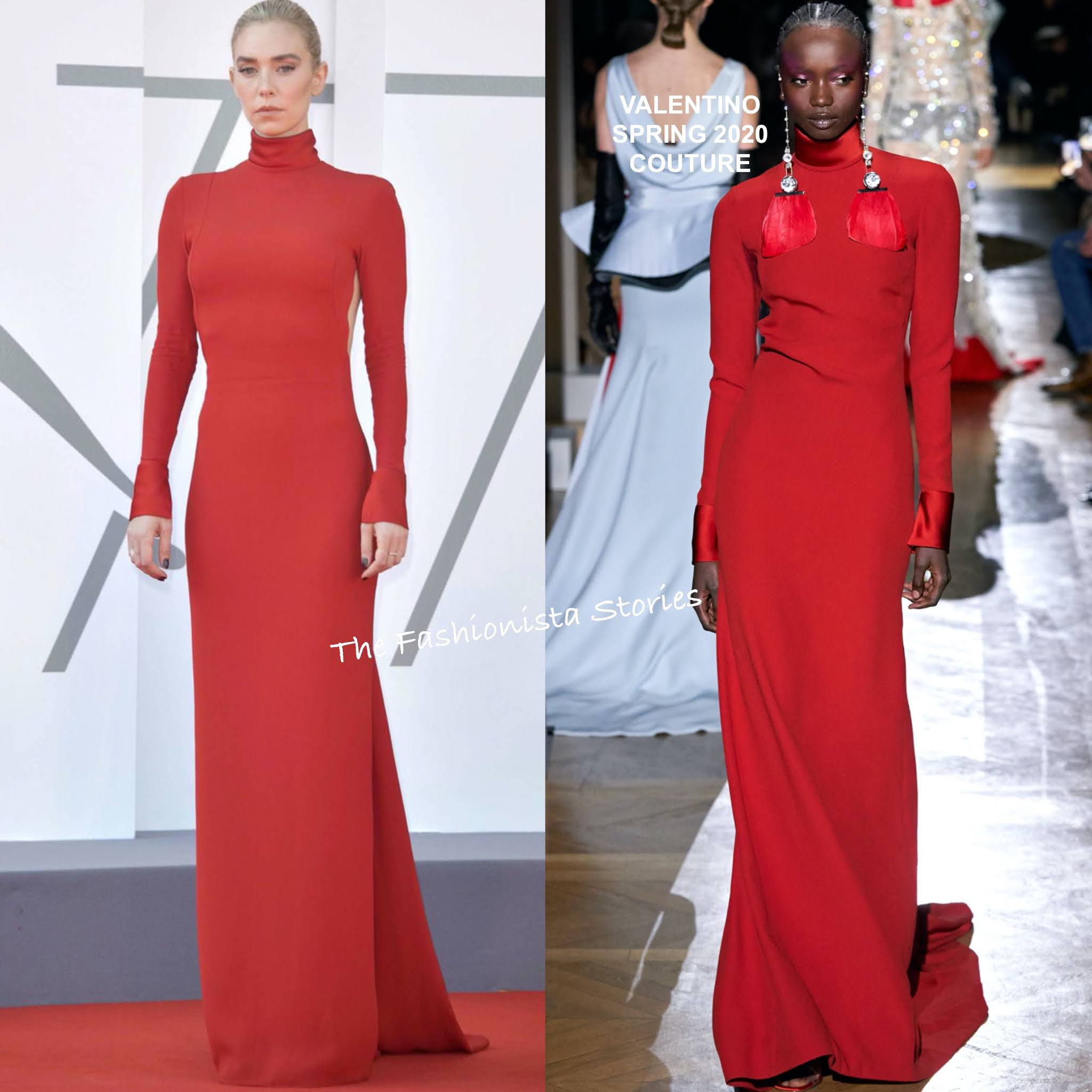 Vanessa Kirby in Valentino at the Pieces of a Woman