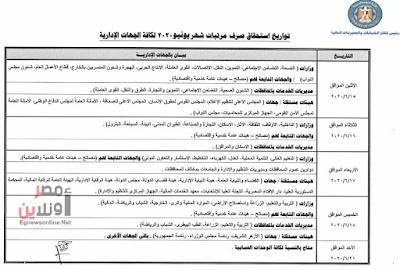 اعرف مواعيد صرف مرتبات الموظفين بالدولة في يونيو 2020 بعد تقديم موعد الصرف