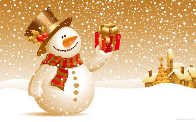 christnas-snowman-wallpaper-gift