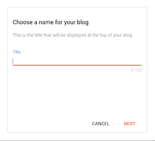 Choose a name for your blog