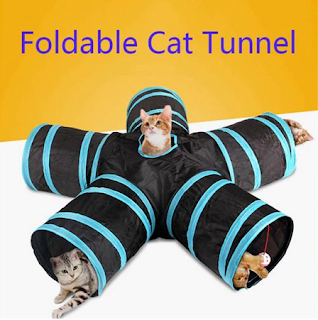 Foldable Pet Cat Tunnel Indoor Outdoor Pet Cat Training Toy for Cat Rabbit Animal Play Tunnel Tube