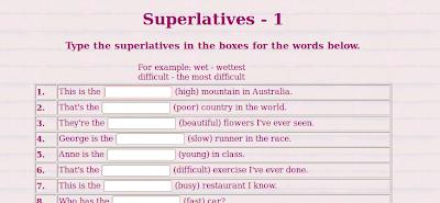 Los superlativos-Inglés fácil para primaria
