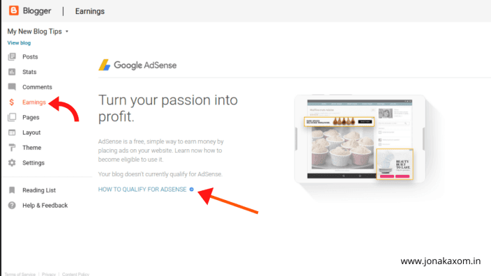 How to enable google adsense on google blogger