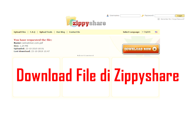 Cara Download di Zippyshare