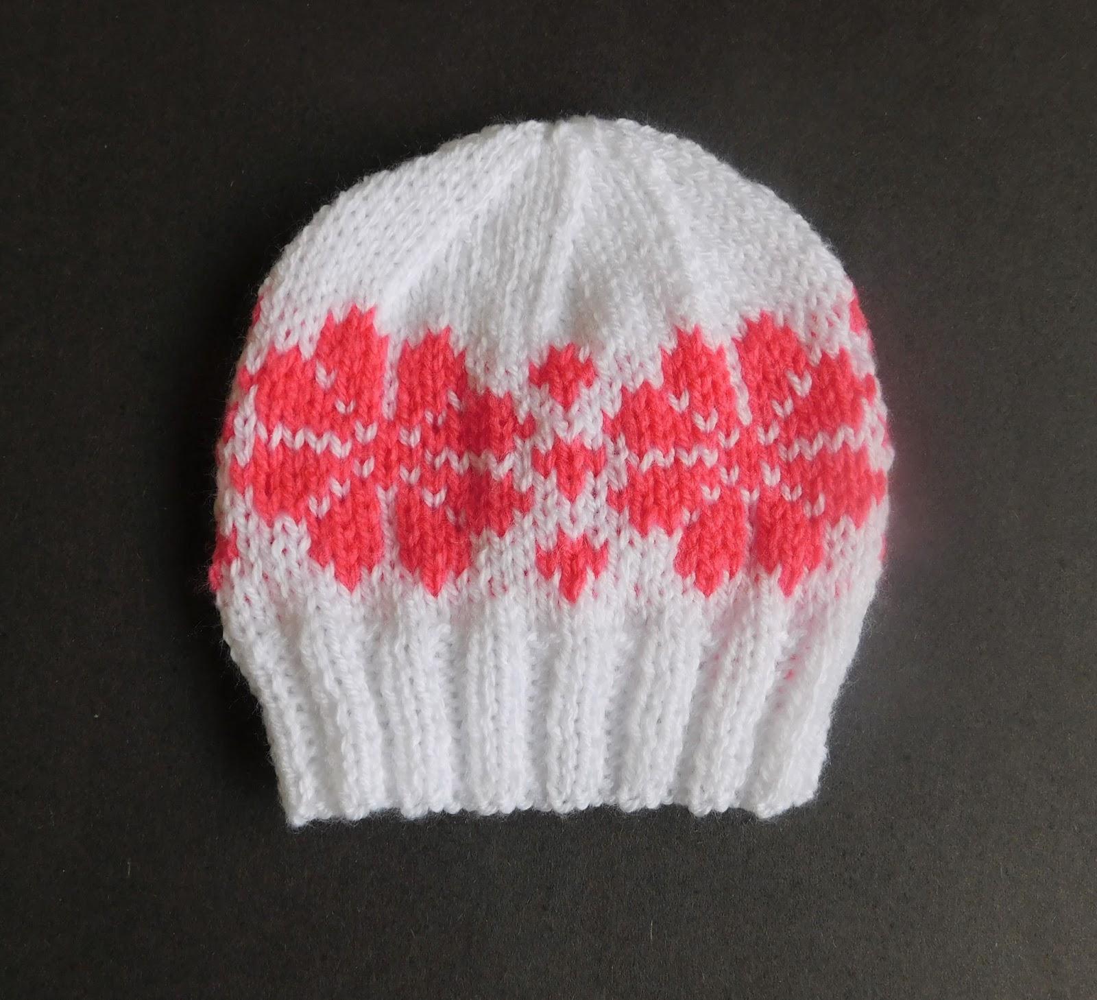 Marianna\'s Lazy Daisy Days: \'Fair Isle\' Flower Baby Hat