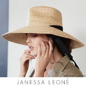 Meghan Markle wore Janessa Leone Serena Hat
