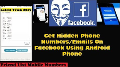 Find Facebook Hidden Mobile Numbers on Android Phone 2019
