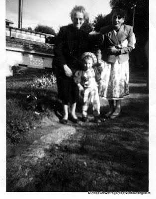 photo ancienne noir et blanc, Papy et Mamy