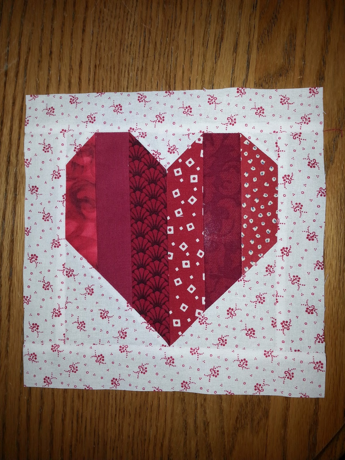 how to make a heart quilt block