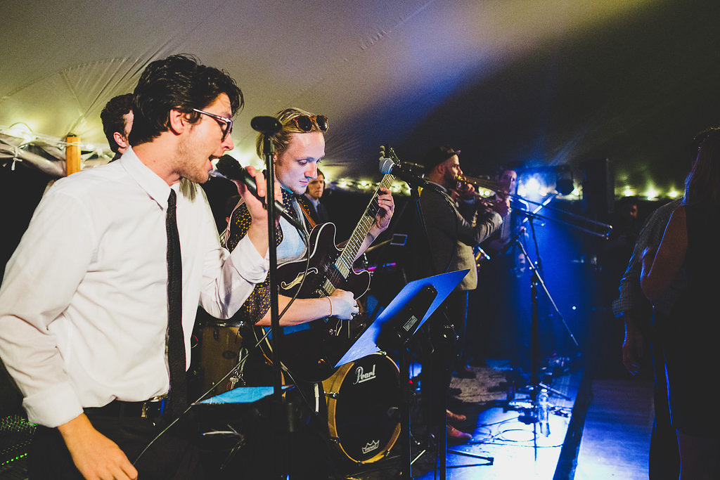 Silver Arrow Wedding Band playing reception in Martha's Vineyard | cassiecastellaw.com