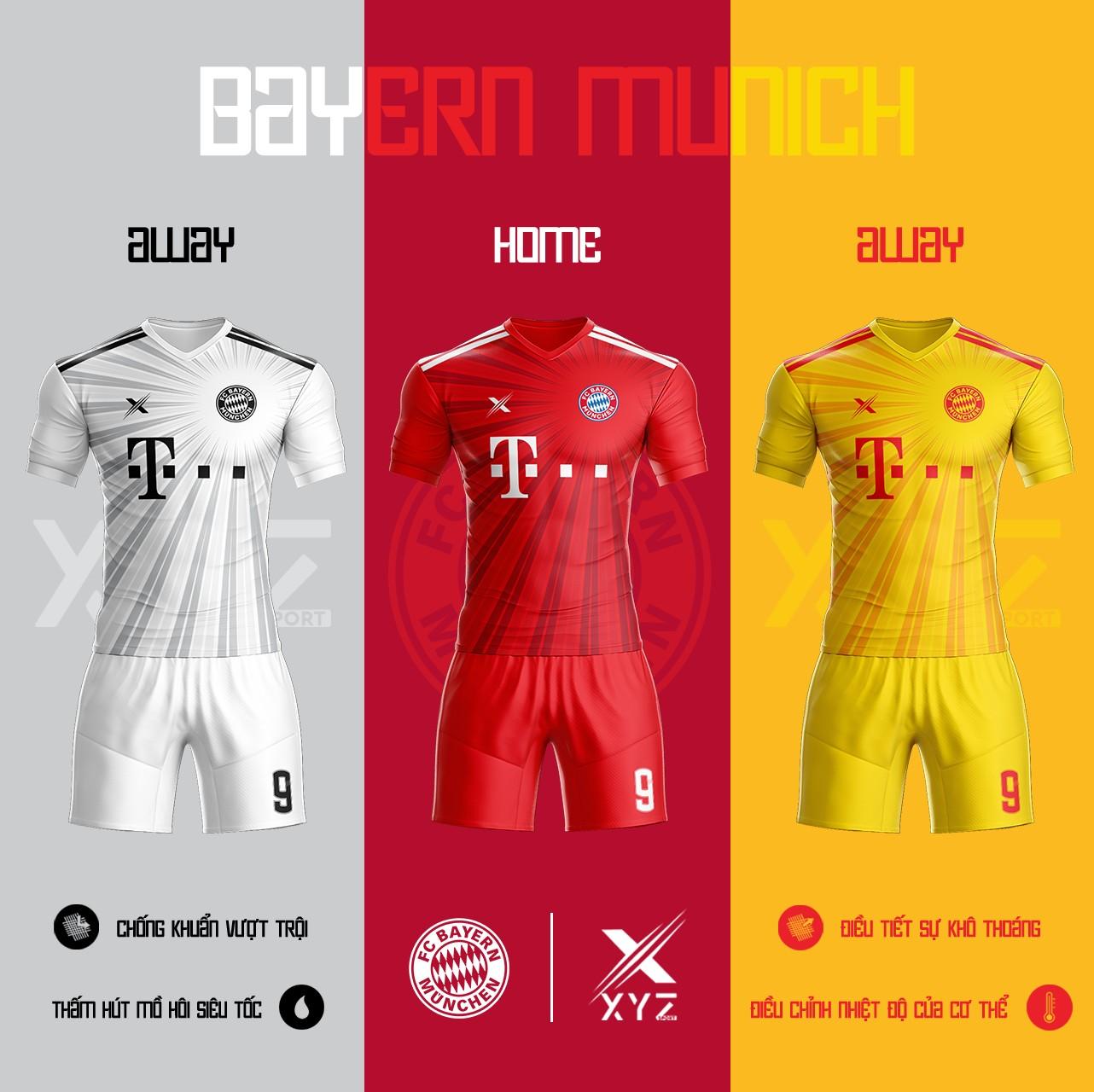 Áo Đấu Bóng Đá Bayern Munich Tự Thiết Kế Đẹp Và Độc - Mã BM01