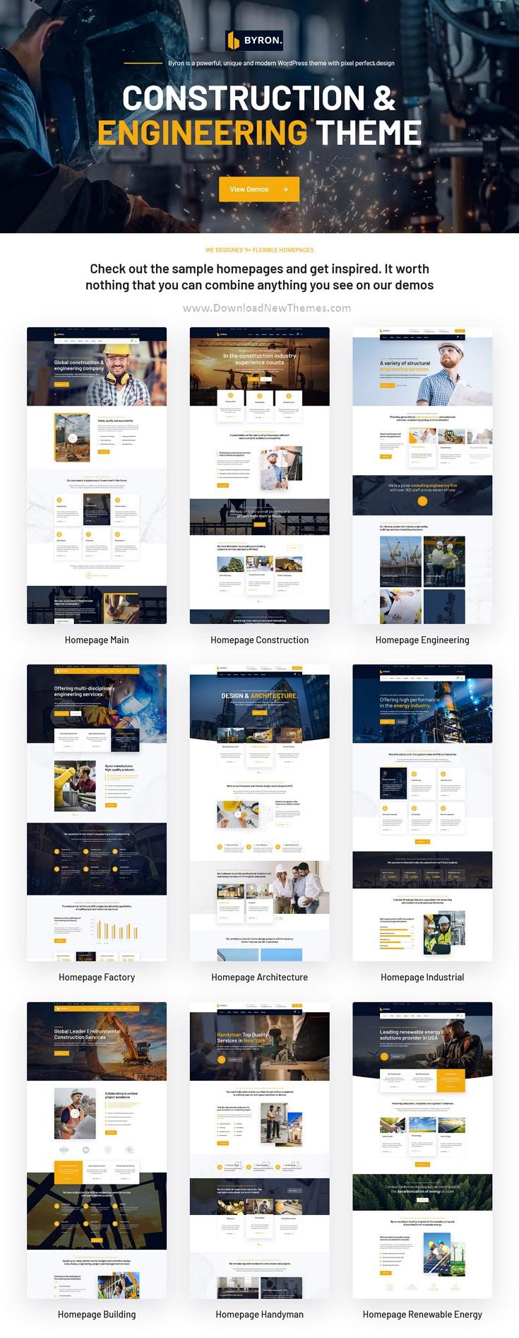 Construction and Engineering WordPress Theme