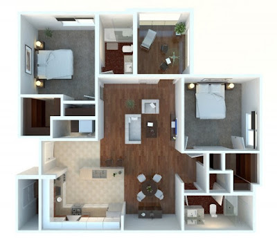 2 bedroom floor plans with sunroom and rest chair