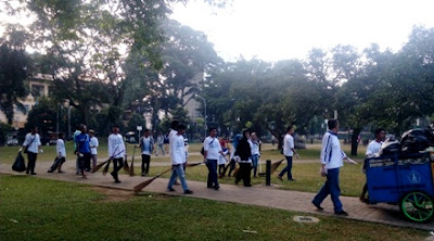 clean the city kota malang