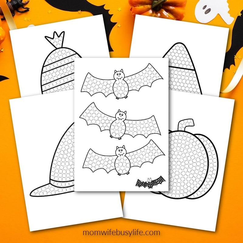 free halloween qtip painting sheets
