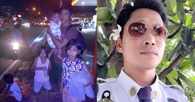 Pamilyang naligaw at walang makain, taos pusong tinulungan ng security guard lalo na ng marinig niya ang kwento ng ama ng mga ito