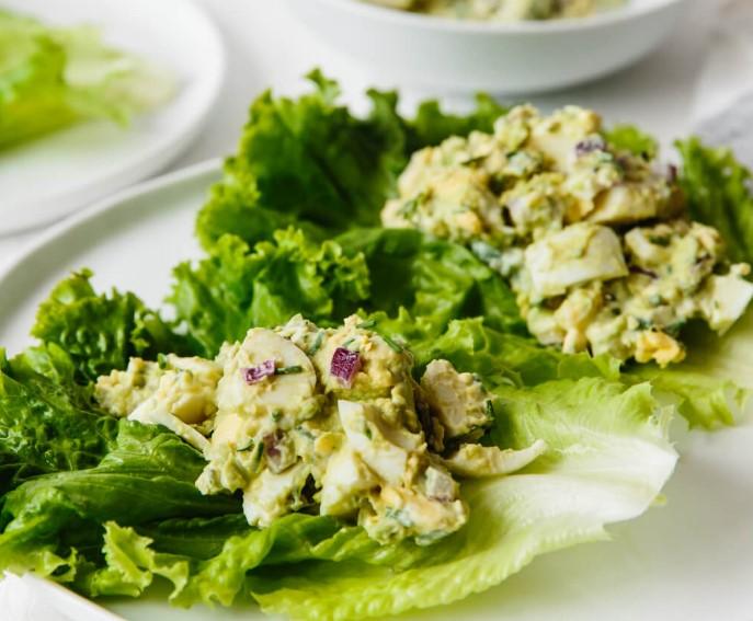 AVOCADO EGG SALAD #salad #vegan #healthyrecipes