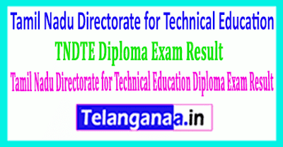 Tamil Nadu Directorate for Technical Education TNDTE Diploma Exam Result 2019