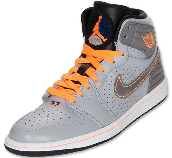 low priced 853cb f97c9 The latest Air Jordan 1 Retro  93 comes in a wolf grey, cool grey, bright  citrus and deep royal blue colorway. Featuring a grey based upper with  citrus and ...