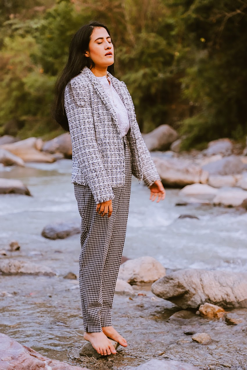 HOW TO STYLE TWEED BLAZER FOR WORK OUTFIT