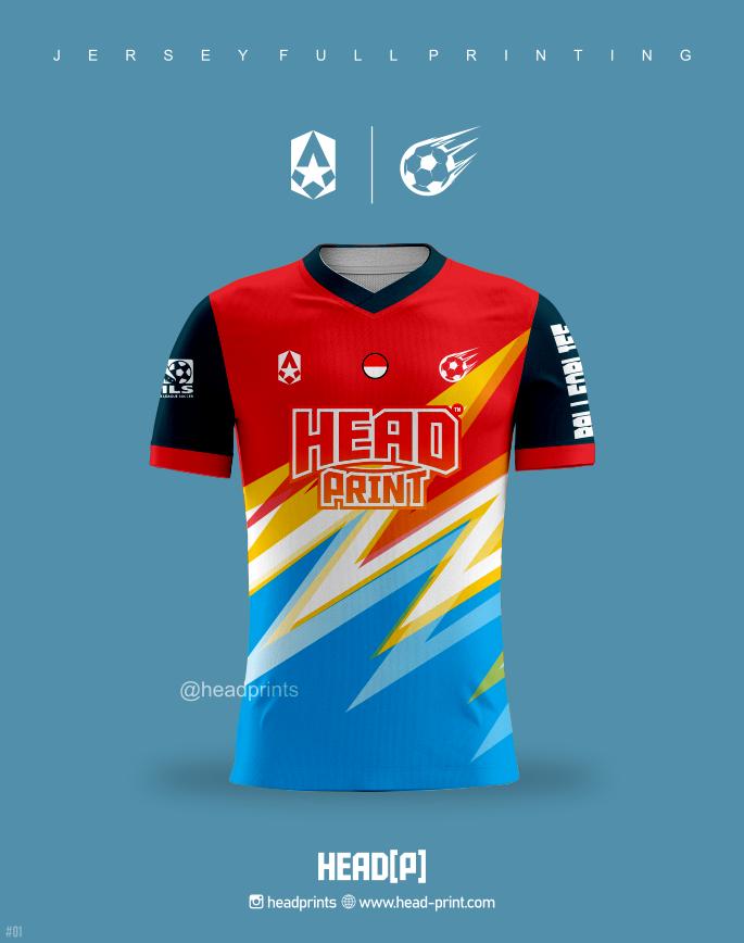 Merah Hitam 1 Jersey Futsal Soccer Full Printing - Jogja Jersey Siap Kirim Ke Seluruh Indonesia