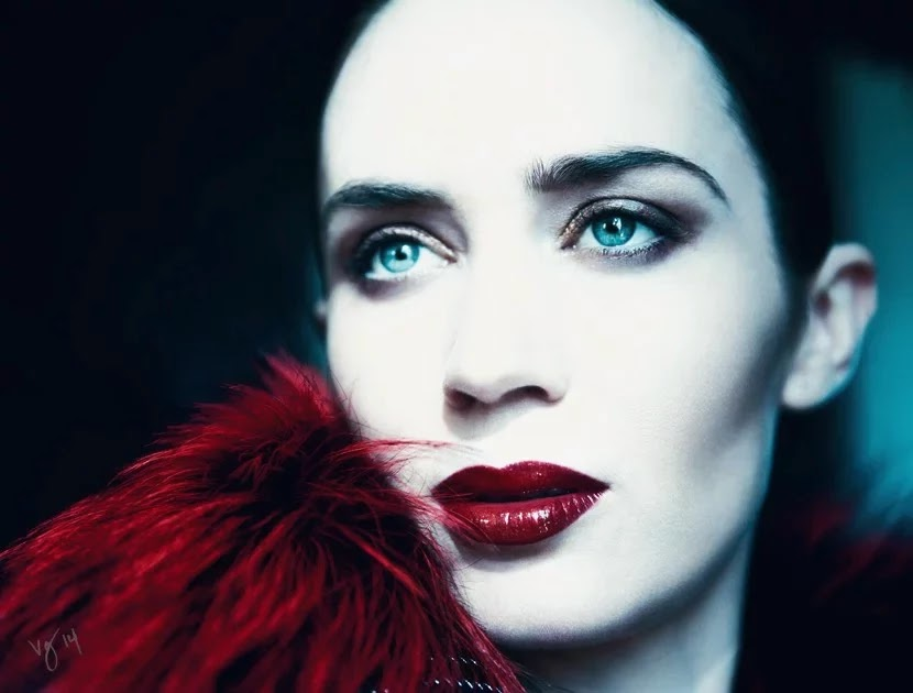Emily Blunt Into the Woods Violet Grey editorial
