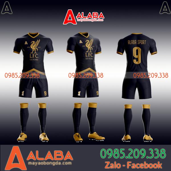 Áo bóng đá màu đen tự thiết kế hot