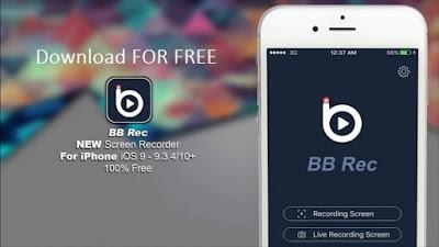 Aplikasi iPhone untuk Merekam Layar - BB Rec