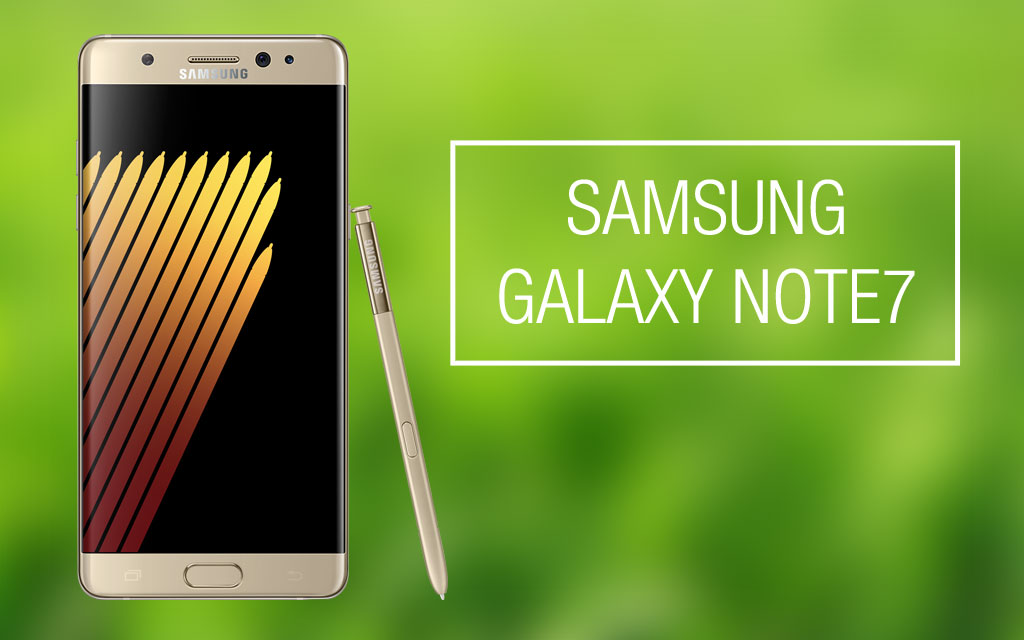 Samsung Galaxy Note7 Officially released