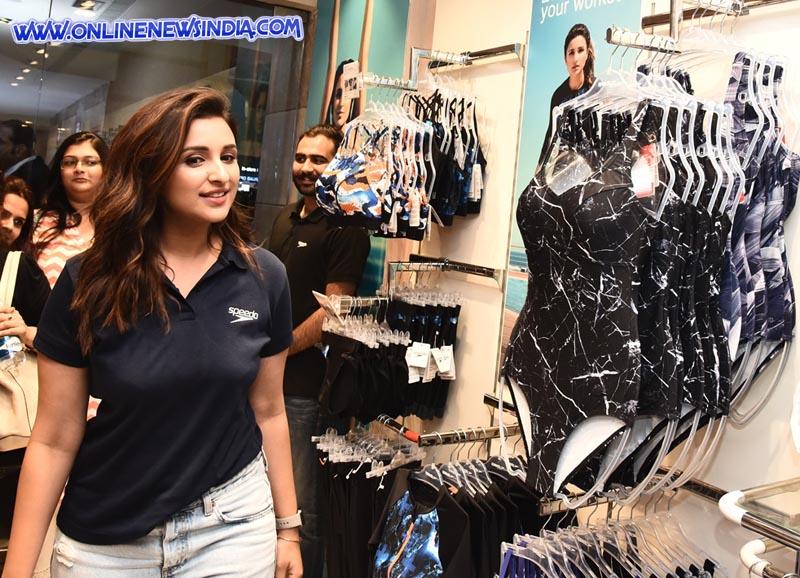 Parineeti Chopra during her visit at Speedo exclusive store in Gurgaon