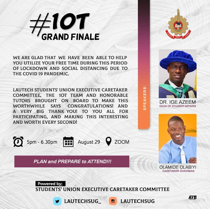 Lautech DSA to address 100L Students at 10T Grand finale Today by 5:00pm