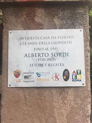 Targa Alberto Sordi Garbatella