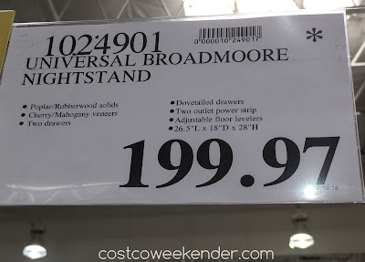 Deal for the Universal Furniture Broadmoore Nightstand at Costco