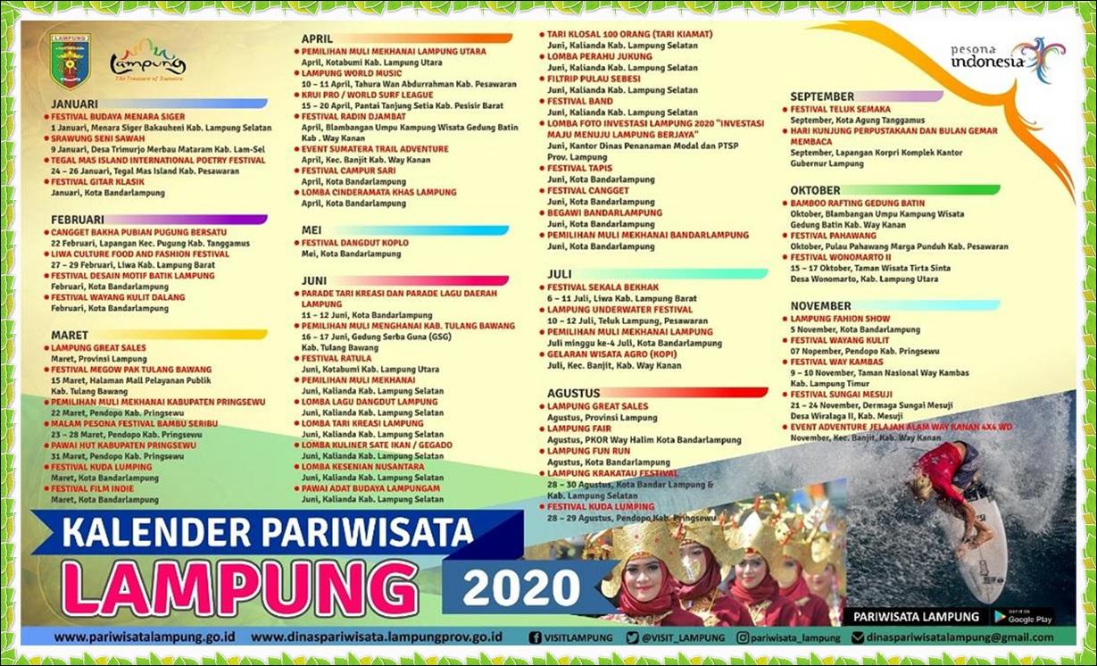 3 Tempat  Wisata Terfavorite Masuk Festival Calender Pariwisata Lampung 2020