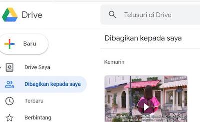 Membuka Google Drive Pribadi