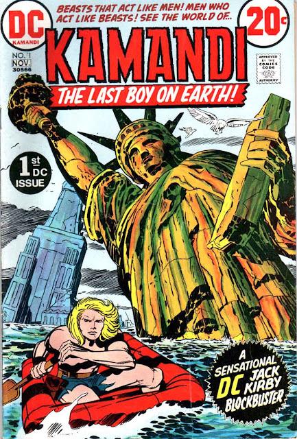 Kamandi v1 #1, 1972 dc 1970s bronze age comic book cover by Jack Kirby