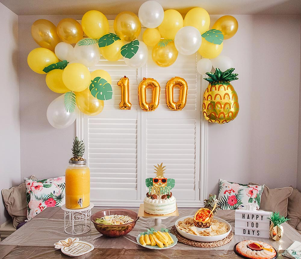 Party like a Golden Pineapple! (DIY party decor)