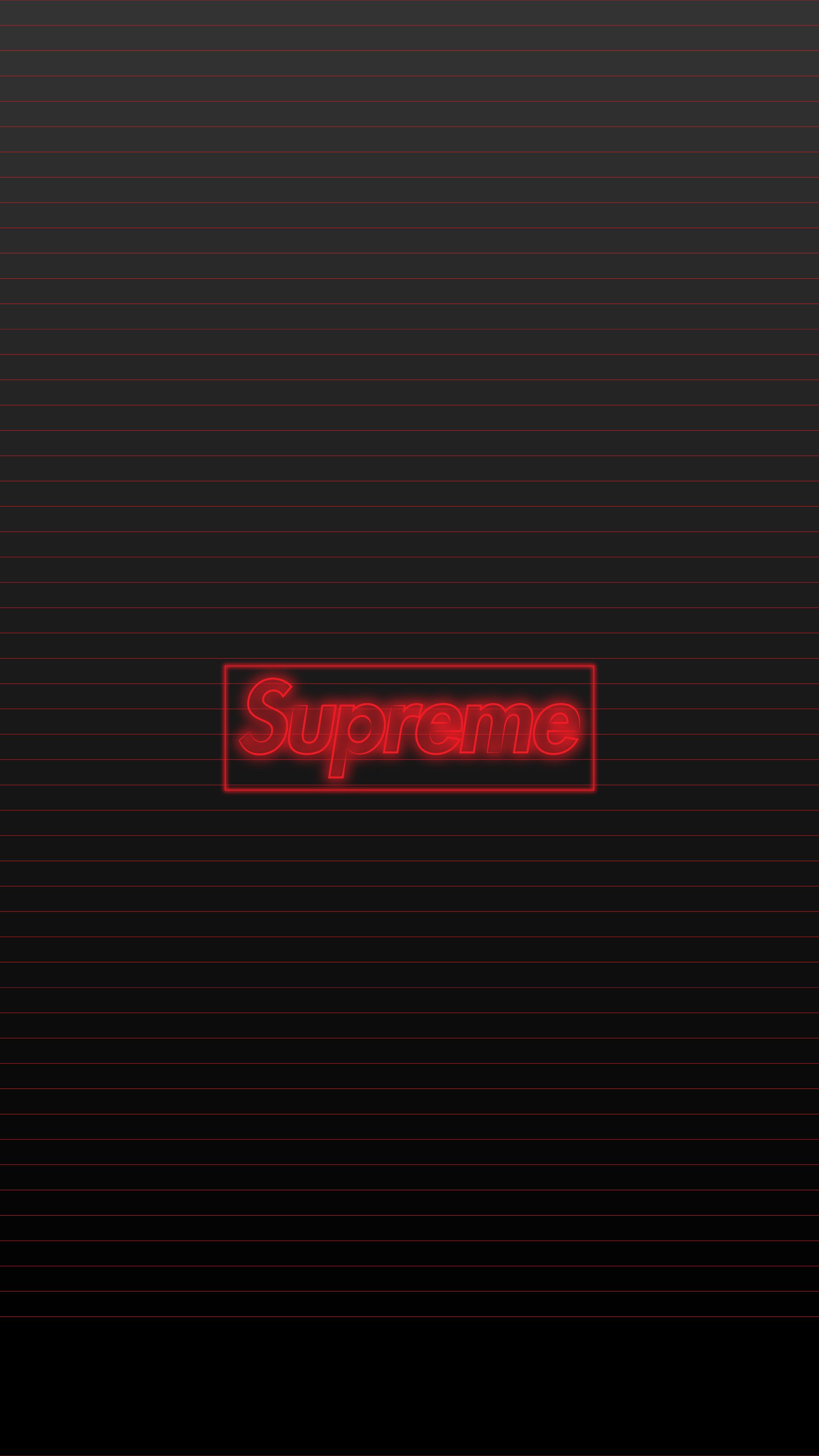 supreme logo neon