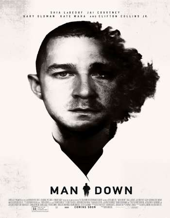 Poster Of Man Down 2015 English 400MB BluRay 720p ESubs HEVC Free Download Watch Online Downloadhub.in