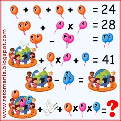 Desafíos matemáticos, Retos matemáticos, Problemas matemáticos, Retos mentales, Retos visuales, Problemas de matemáticas, Descubre el número, El número oculto, Descubre el resultado, Busca el resultado