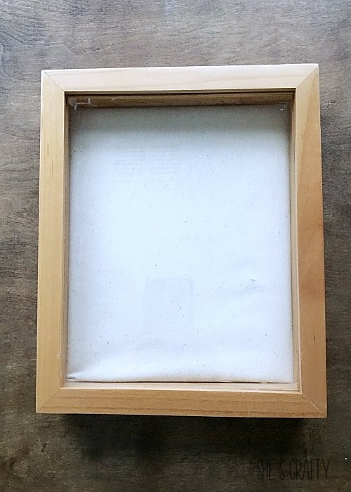 blank shadow box, frame shadow box