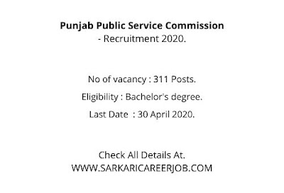PPSC Vacancy 2020 | 311 Posts Job Vacancy in PPSC Careers 2020.