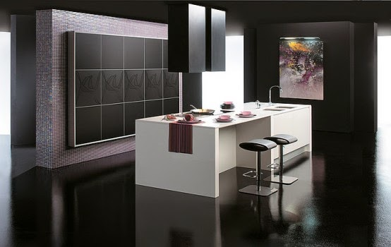Modern kitchens for cooking and dinning