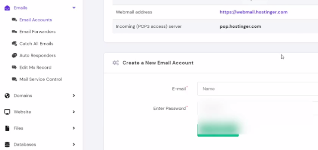 create free email account on hostinger