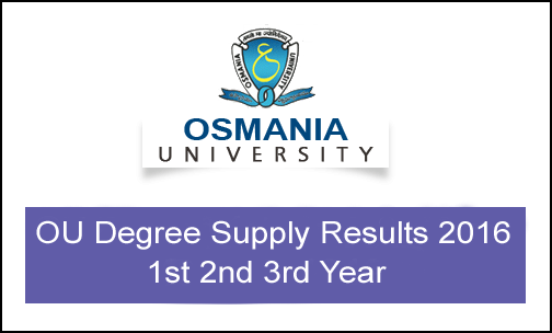 Degree Supply Results 2016