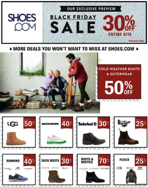 Shoes.com Black Friday 2017 Ad
