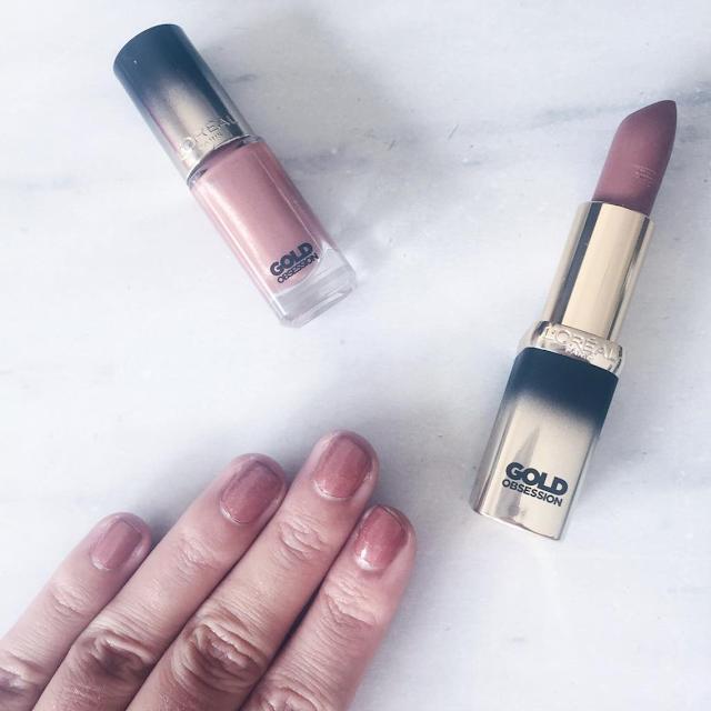 Vernis Gold Obsession de L'Oréal Nude Gold