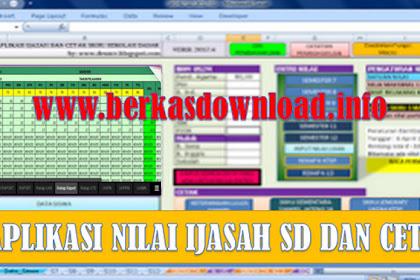 Download Free - Aplikasi Iput Nilai Ijazah SD/MI Tahun 2018