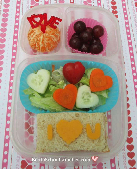 I Love You, Valentine's Bento School Lunch